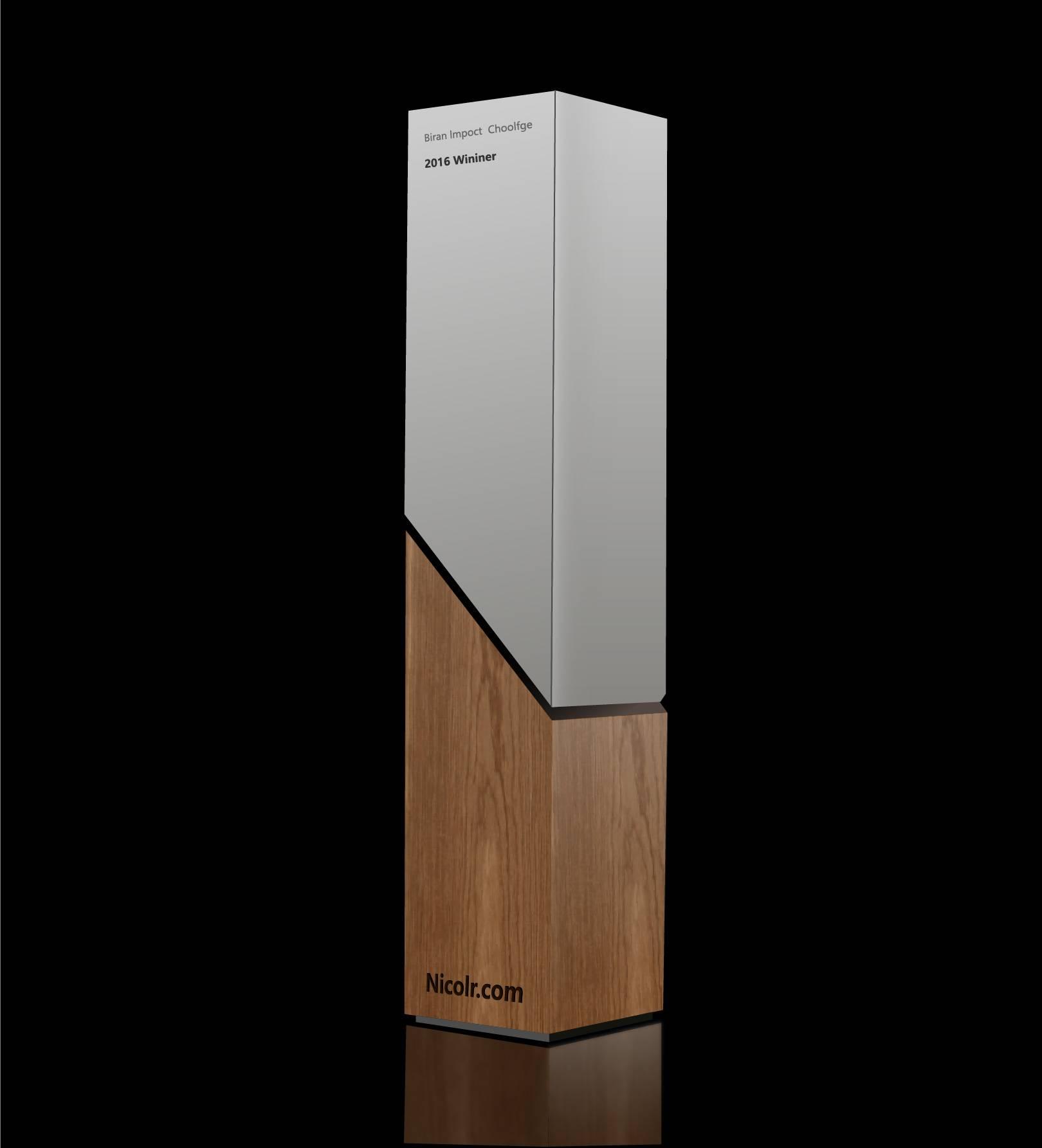 简洁大气木质立柱