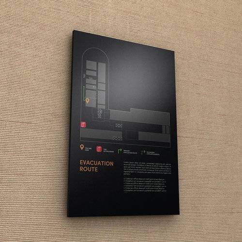 黑色简洁高档饭店卫生间标识