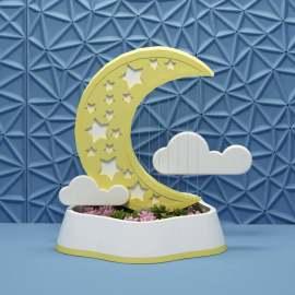 美陈美陈-月亮和云朵