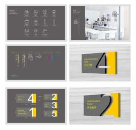 办公室导视设计模板