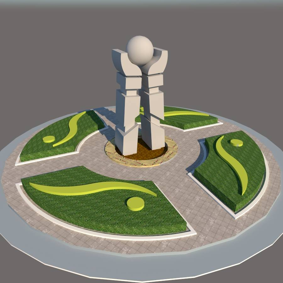 广场景观建筑