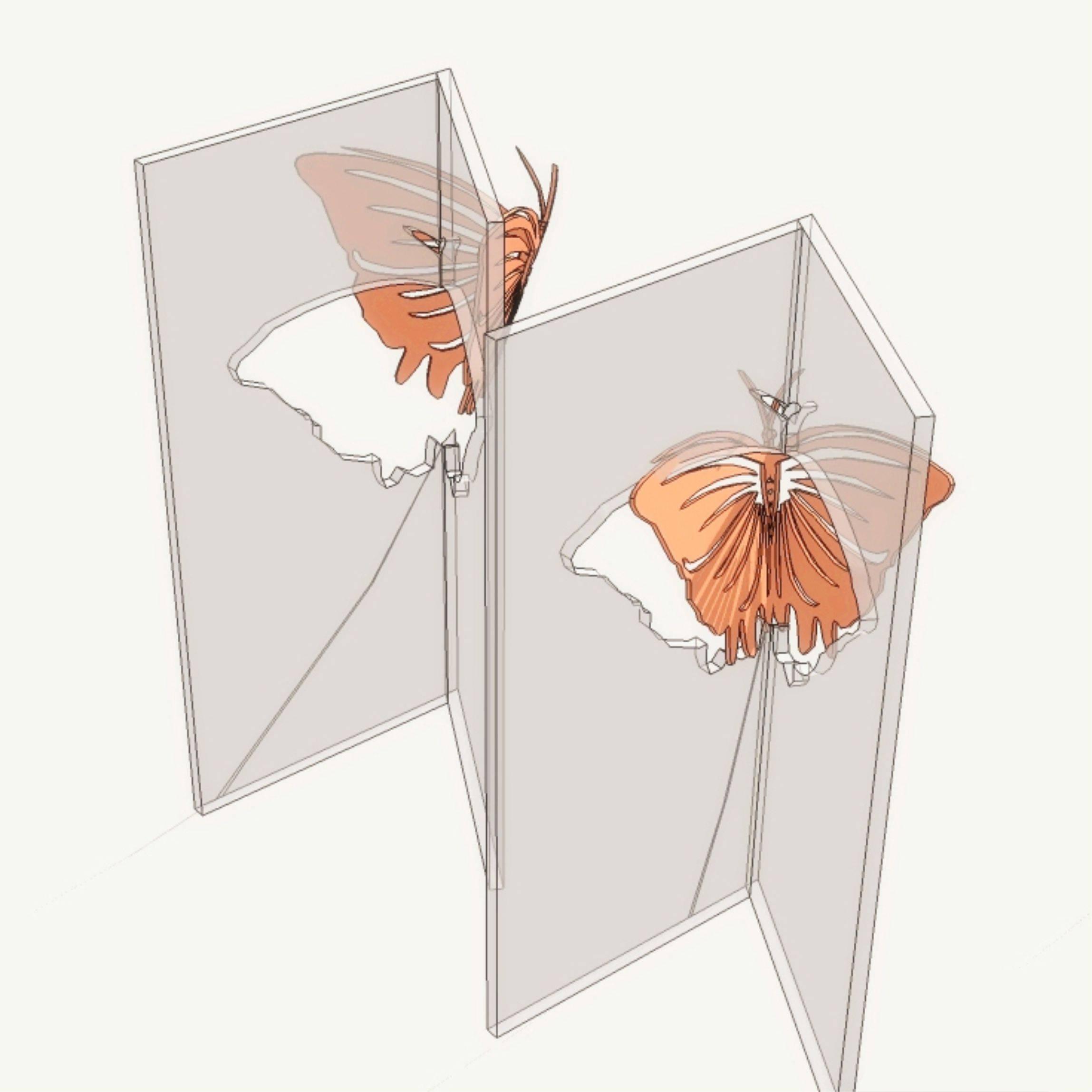 创意蝴蝶雕塑景观小品