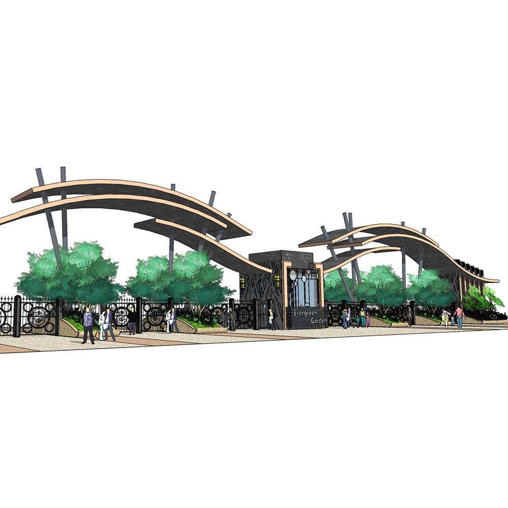 小学 学校 大门 入口 小区 学院 动物园 小区 游乐园