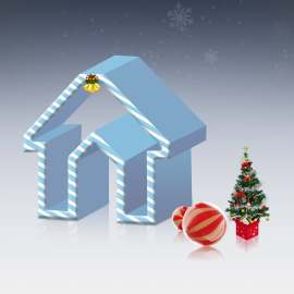 圣诞美陈 房子