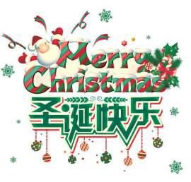 圣诞节活动主题字