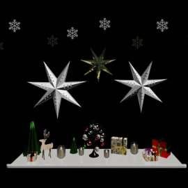 圣诞节橱窗3d模型装饰品