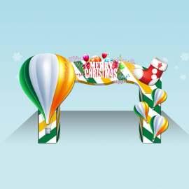 圣诞节立体拱门 时尚热气球设计