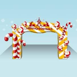 圣诞节立体拱门装饰门楼设计