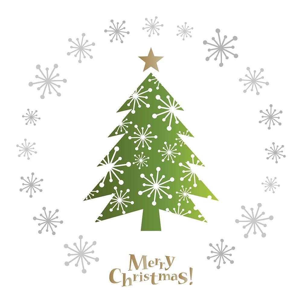 圣诞树  雪花树  圣诞雪花