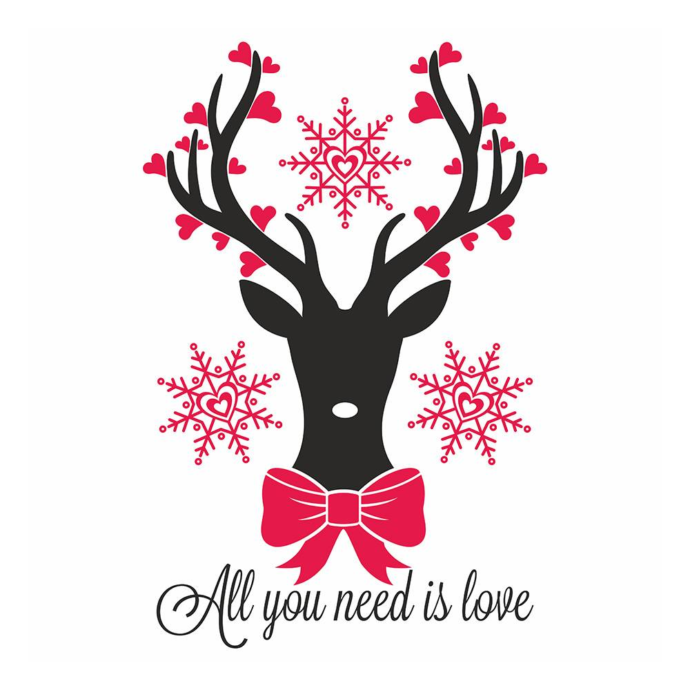 矢量圣诞鹿剪纸鹿素材