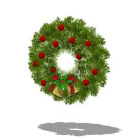 圣诞 壁挂 圣诞节 花环 铃铛 树环