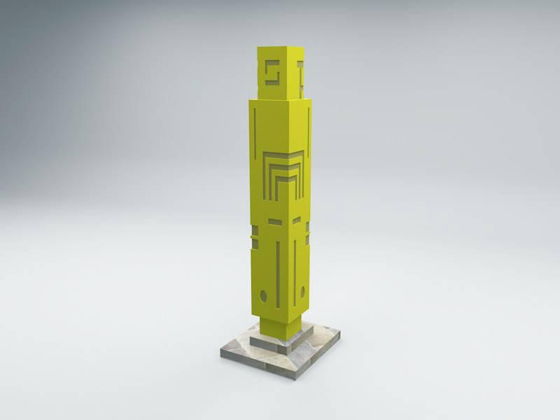 时尚灯柱模型