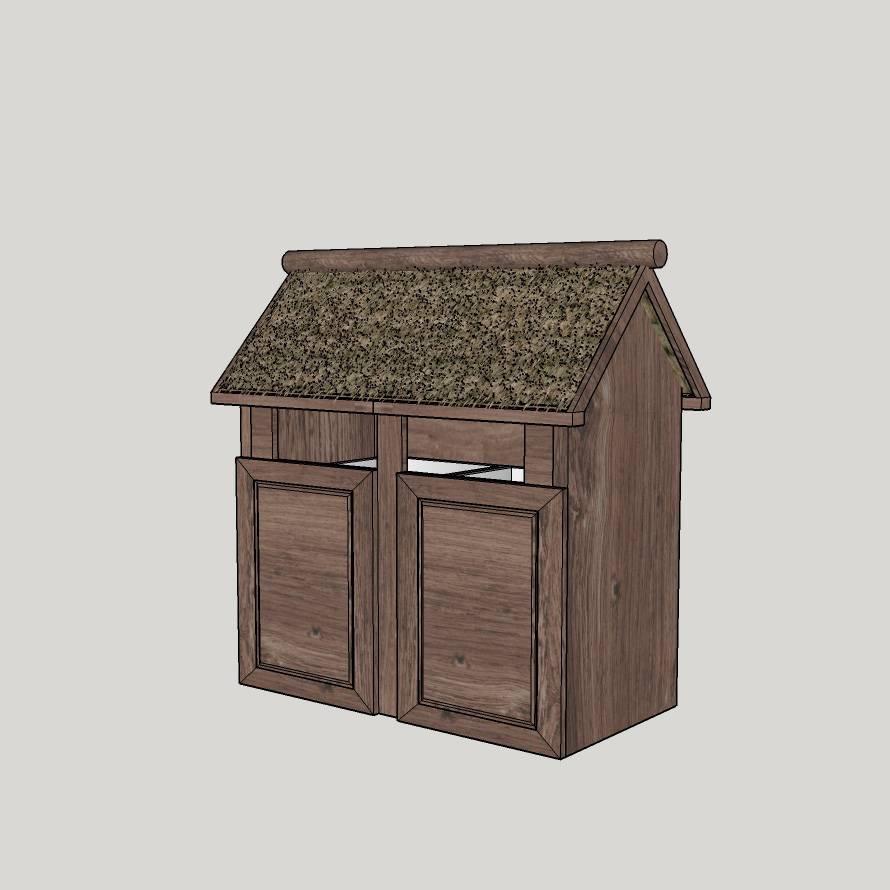 湿地 导视 标识 风景区 模型 厕所 垃圾箱