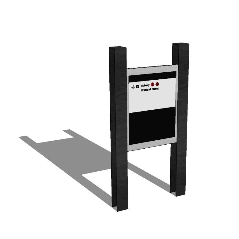 小区 公园 景区 立牌 导视系统 指示牌