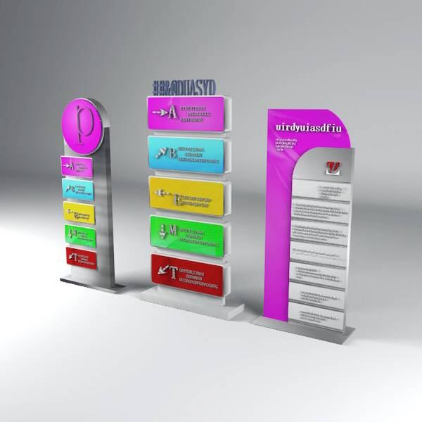 商场 写字楼 立牌 功能导向牌 商场指示 索引 标识 多向商场导视