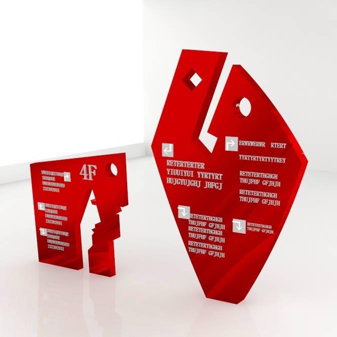广场 商场 公园 创意 指示牌 区域导向牌 导视设计