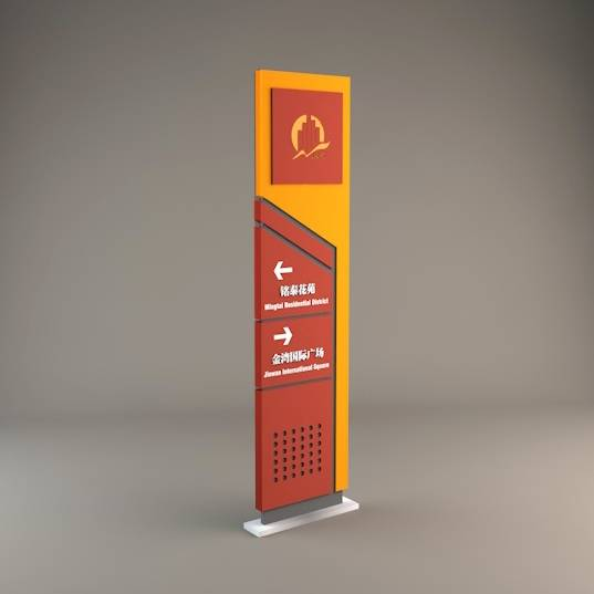 地产 商业广场 导视设计 功能导视 立牌 指示牌
