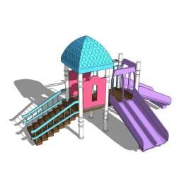 梦幻 幼儿园 幼儿园设施 城堡 滑梯