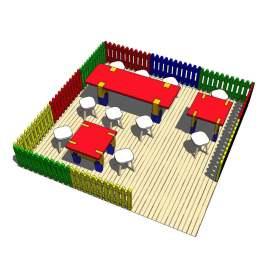 幼儿园 活动 围栏 彩色 聚餐 桌椅 多彩 活动 儿童