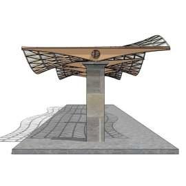 现代建筑 站台设计 建筑设计 SU模型 环境设计