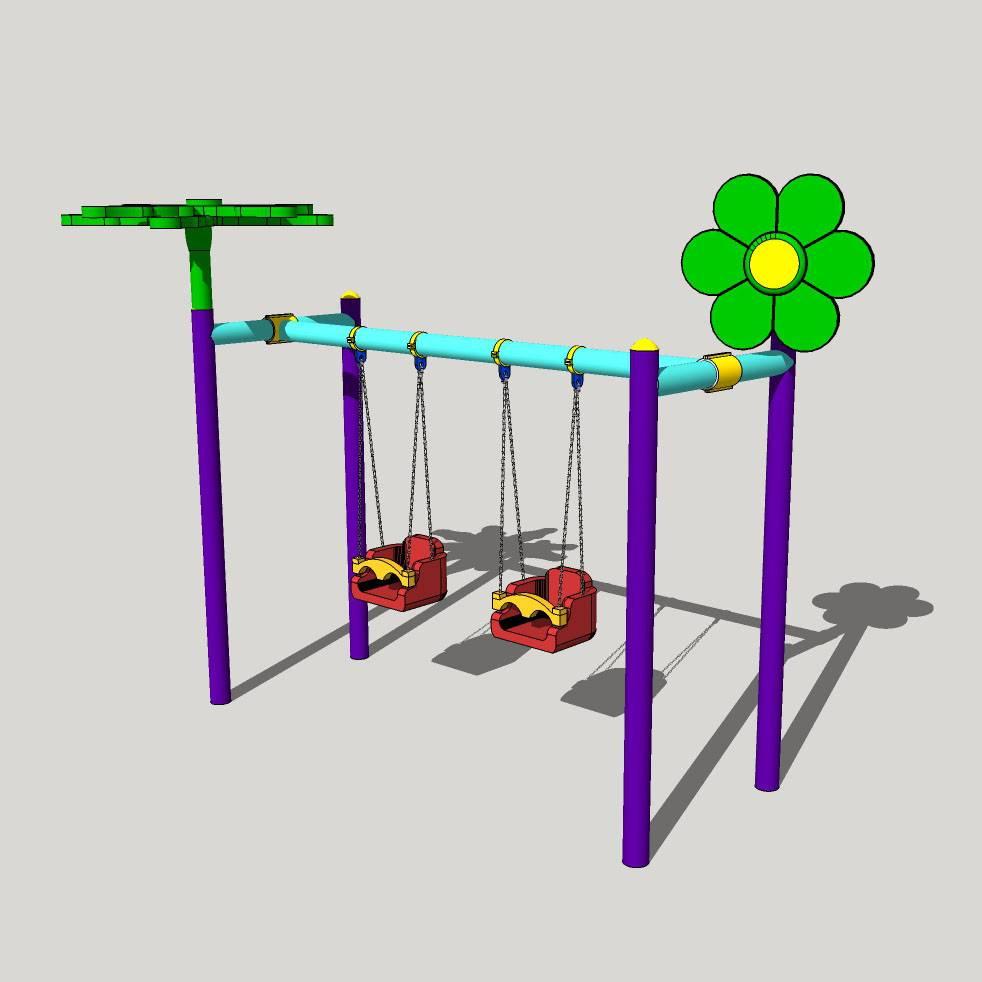 幼儿园 安全椅 秋千 游乐园 可爱 公园 游乐设施 幼儿园设施