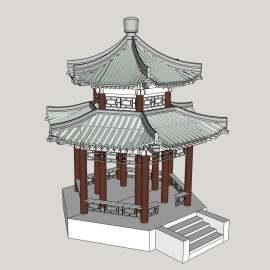 凉亭 复古 中国风