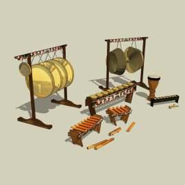 古代乐器 乐器 乐坊 古代装饰品 文化 展示模型