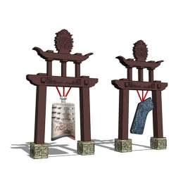编磬 古代乐器 乐器 乐坊 钟亭 古代装饰品 文化 展示模型