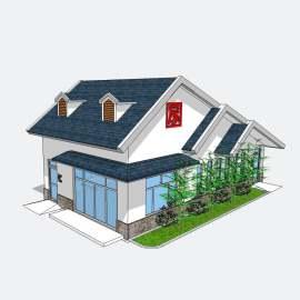 公厕  卫生间  厕所 景观  建筑  设计  模型  新中式公厕  skp