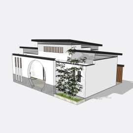 公厕  卫生间  厕所 景观  建筑  设计  模型  新中式公厕  公园卫生间  skp
