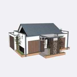 卫生间  厕所  景观设计  建筑  模型  公厕  新中式  skp