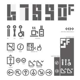 警示 标识 导视 指示 数字 简洁 个性 现代