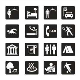 电梯 邮件 提醒 图标 标志 信封 行李箱 医疗 回收 环保 警察 垃圾 接待 电话 衣架 生活 体育 户外 咖啡 飞机 汽车 自行车 标识 导视
