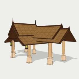 东南亚凉亭  凉亭  石亭  石凉亭 长廊  休闲石亭  石建凉亭 石建筑 设计 景观设计 SKP