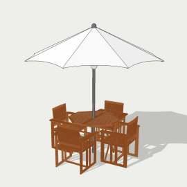咖啡厅桌椅  桌椅 木茶几 休闲座椅  环境设计 室内设计 模型  SKP