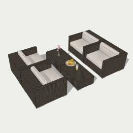 欧式桌椅  现代桌椅 茶几 休闲座椅  休息  洽谈桌   布沙发  餐桌  沙发  设计 环境设计 模型  SKP