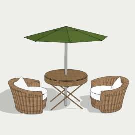 欧式桌椅 茶几 休闲座椅  遮阳伞 餐桌  沙发  设计 环境设计 室内设计 模型  SKP