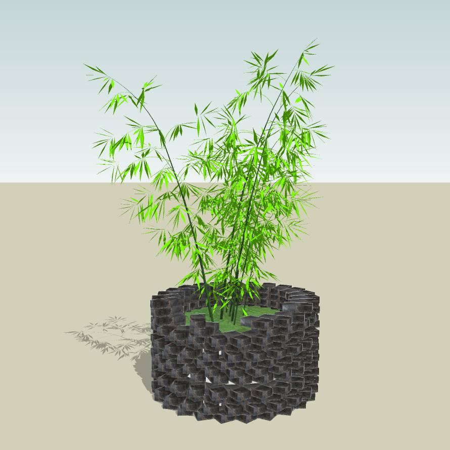 创意树池  砖树池  古镇树池  景区树池  砖  公园 公共空间  种植池 草图大师 模型 景观园林设计  室外模型 SKP