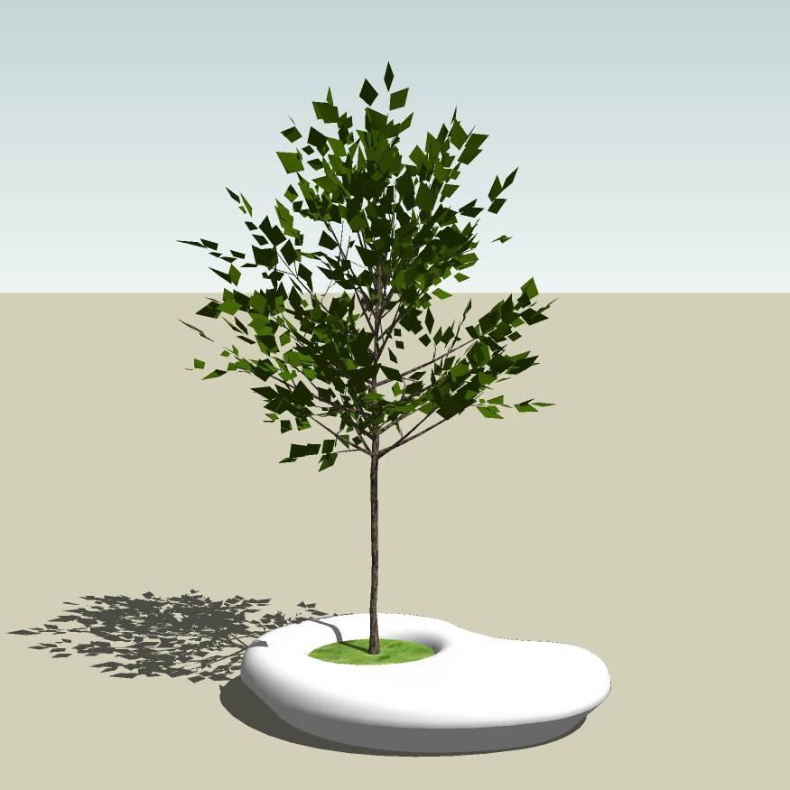 异形树池  石树池  创意坐凳 长凳 广场 公园 公共空间  种植池休息 闲坐 草图大师 模型 景观园林设计  室外模型 SKP