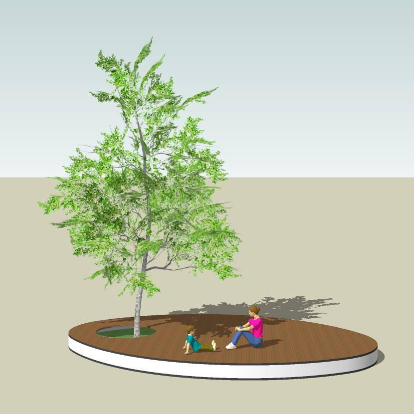 异形树池  鱼型树池  木树池  创意坐凳 长凳   室外模型 SKP