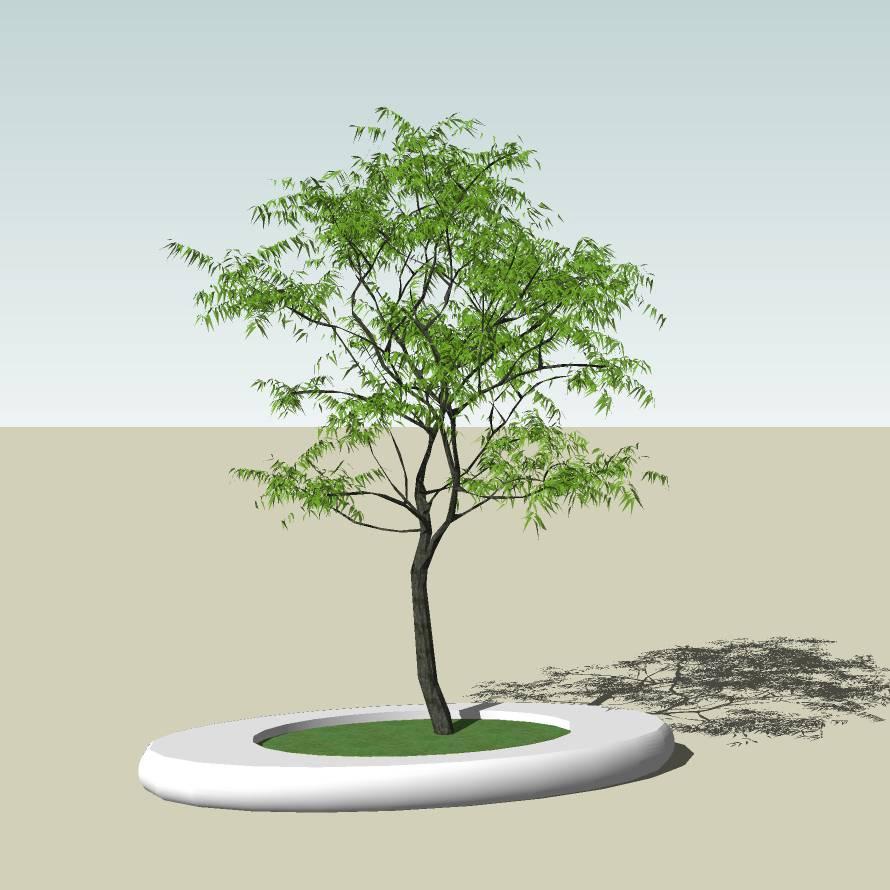 异形树池  石树池 圆树池  创意坐凳 公园 公共空间  种植池休息 闲坐 草图大师 模型 景观园林设计  室外模型 SKP