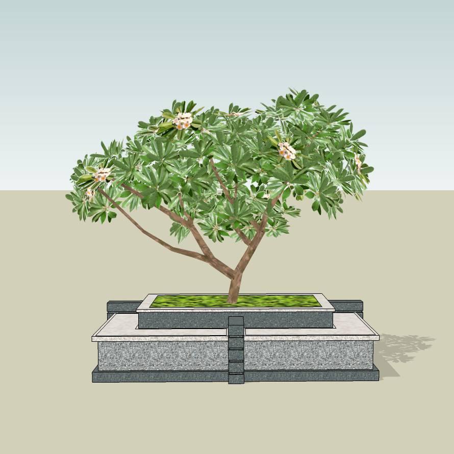 花岗岩树池   创意树池  花坛  长椅  广场 公园 公共空间  种植池 闲坐 草图大师