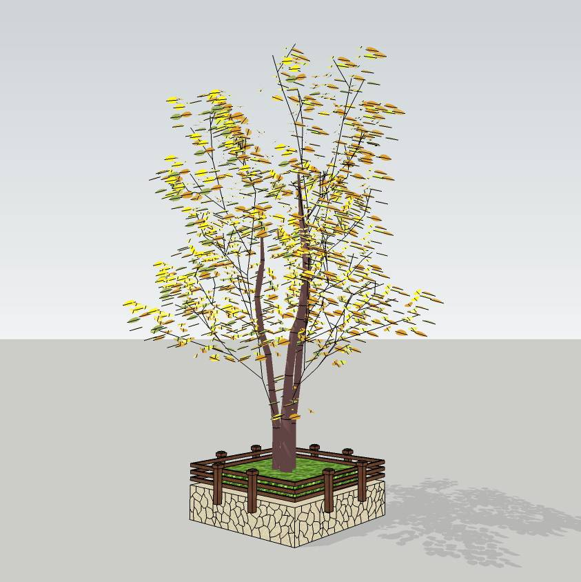 创意树池  方形树池  广场 公园 公共空间  种植池  花坛 草图大师 模型 景观园林设计  室外模型 SKP