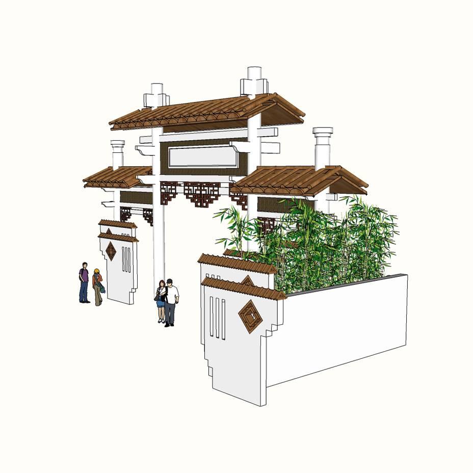 大门入口 旅游景区入口 民俗村 特色古建筑 景观设计 环境设计