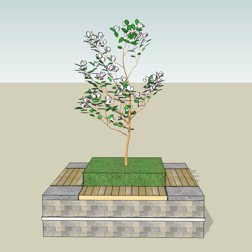 方形树池  石木拼合树池  创意坐凳  花岗岩  石树池  木树池