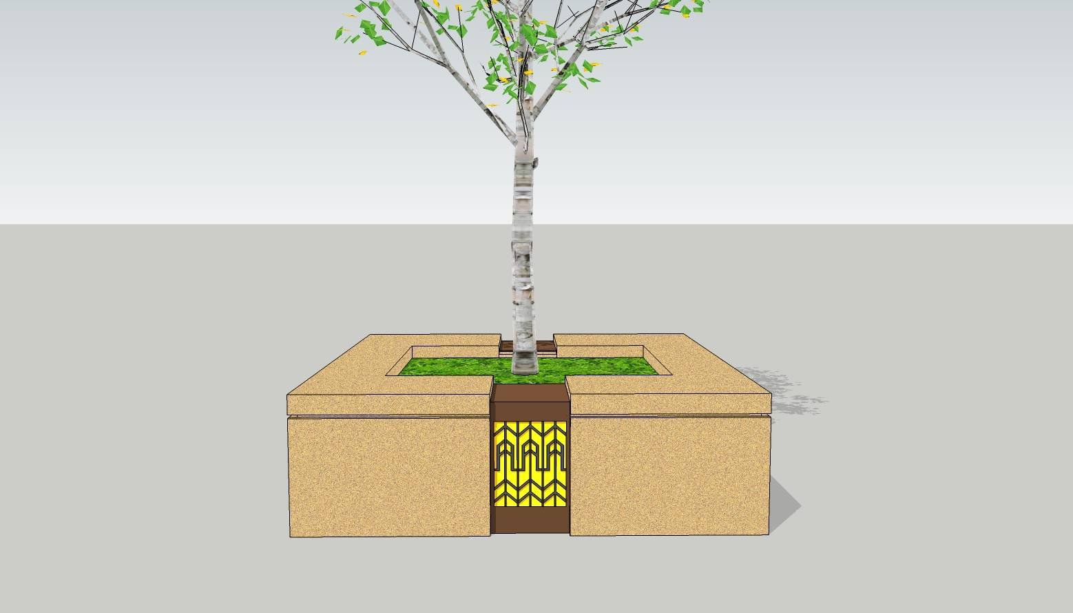方形树池  石树池  创意坐凳  花岗岩