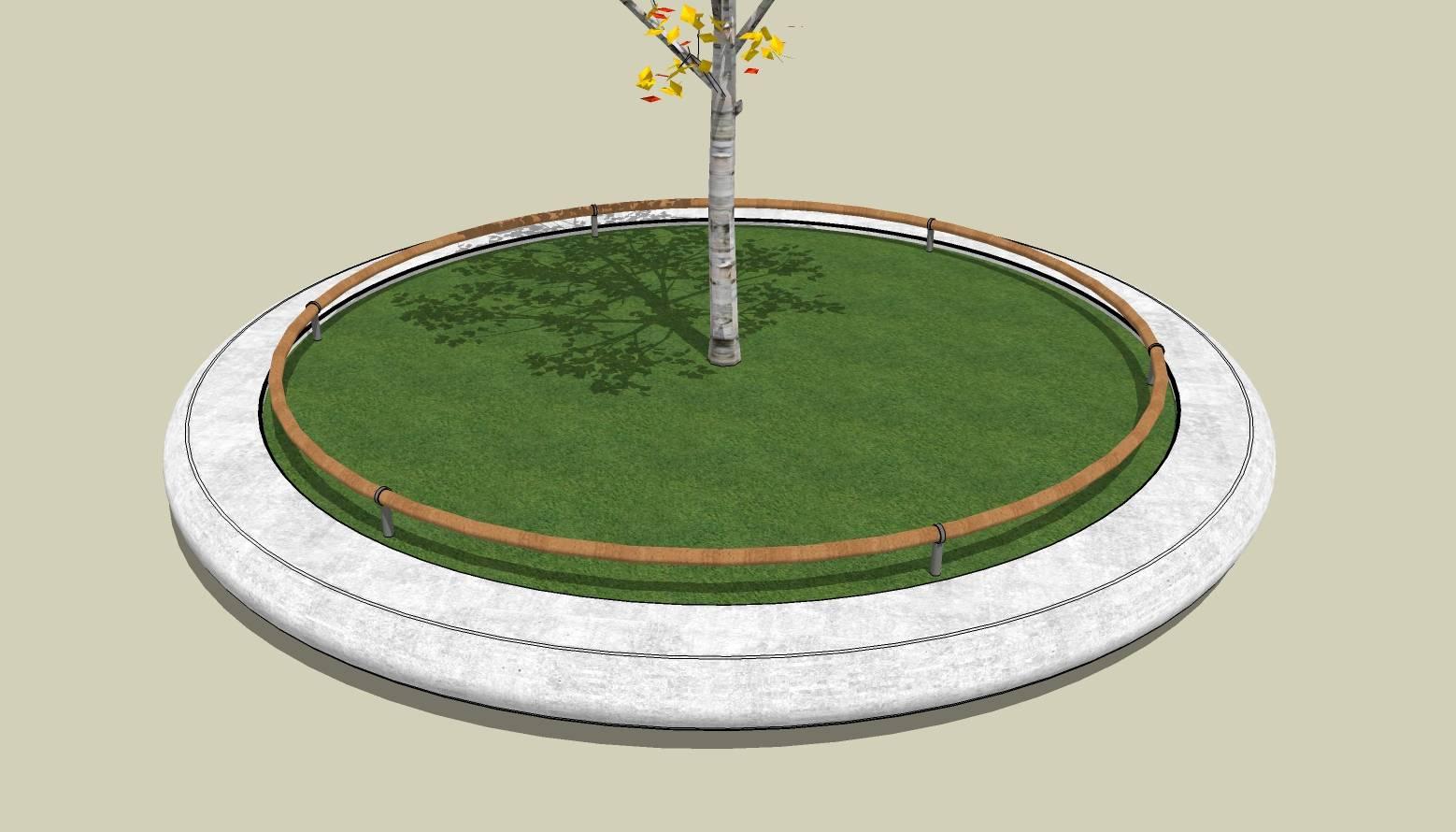 圆形树池  石树池  创意坐凳  长凳  广场 公园 公共空间