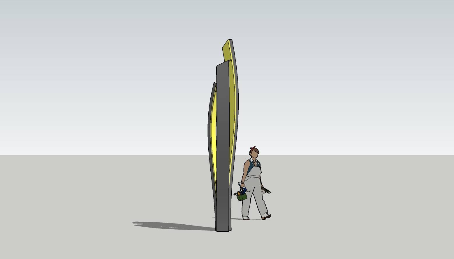导视牌  标识牌 指示牌 单立柱 导视系统 导视立柱 户外导视牌