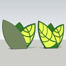 绿色树叶  绿色标识   树叶标识