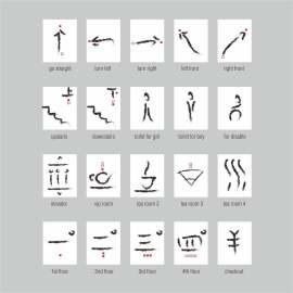导视 标识 指示 图标 中式 墨水 个性 艺术 创意